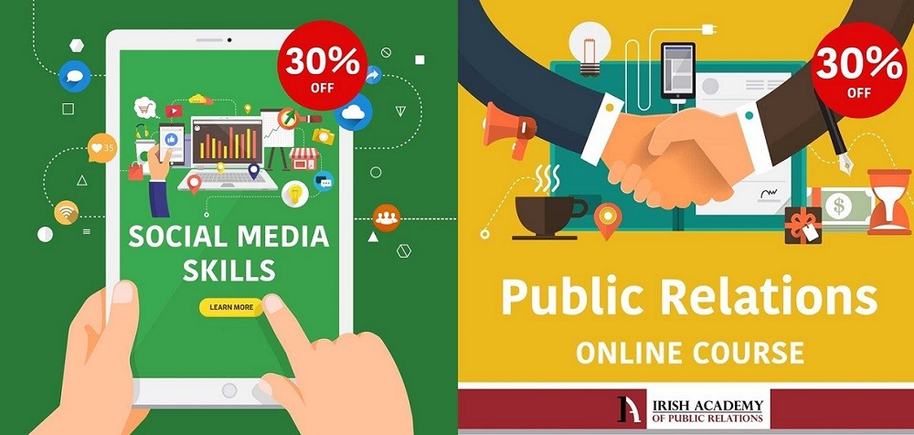Irish Academy of Public Relations: 30% off PR and Social Media courses