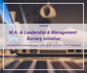 Bursary available for ICHAS Masters in Leadership and Management