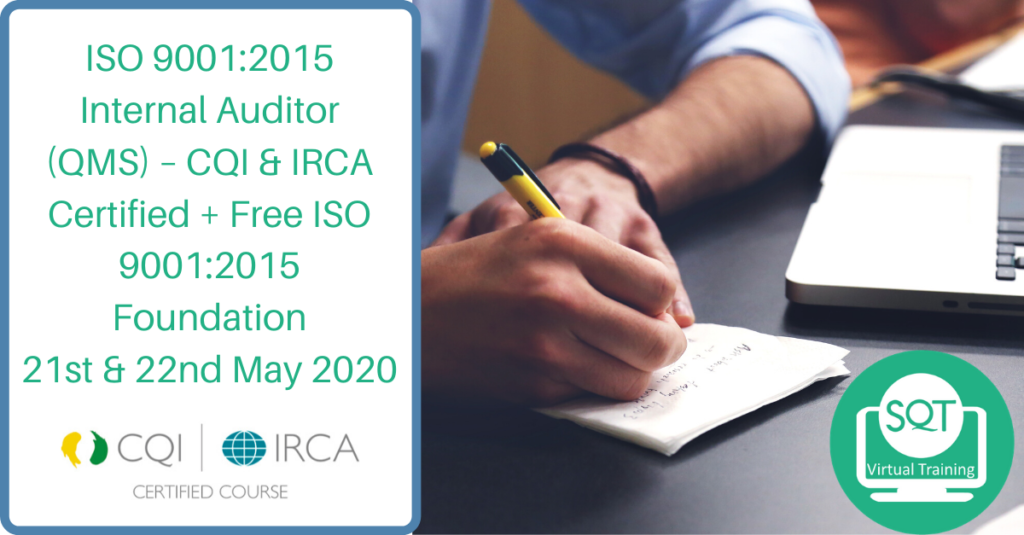 ISO9001:2015 Internal Auditor Course Comes With Free ISO9001:2015 Foundations