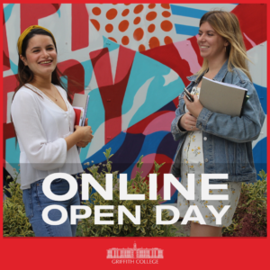 Griffith College will be hosting their online open day on Wednesday, 6th May