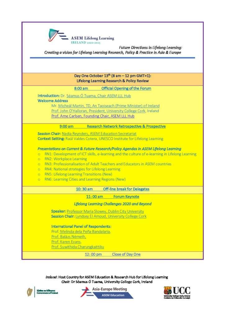 ASEM Lifelong Learning Hub Forum 2020