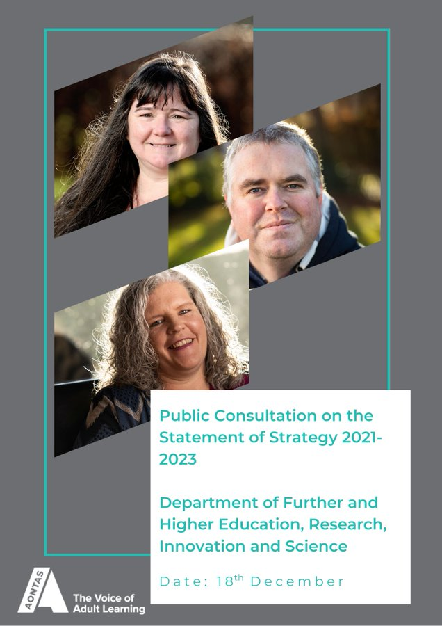 AONTAS Submit Public Consultation on the Statement of Strategy 2021- 2023